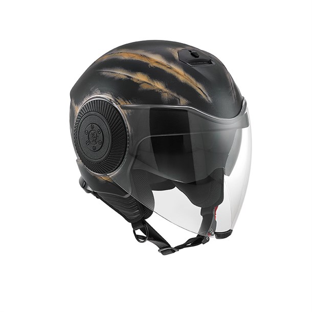 Agv Bad-Jack Diesel Multi Bj1 Matt Black Bronze Açik Kask
