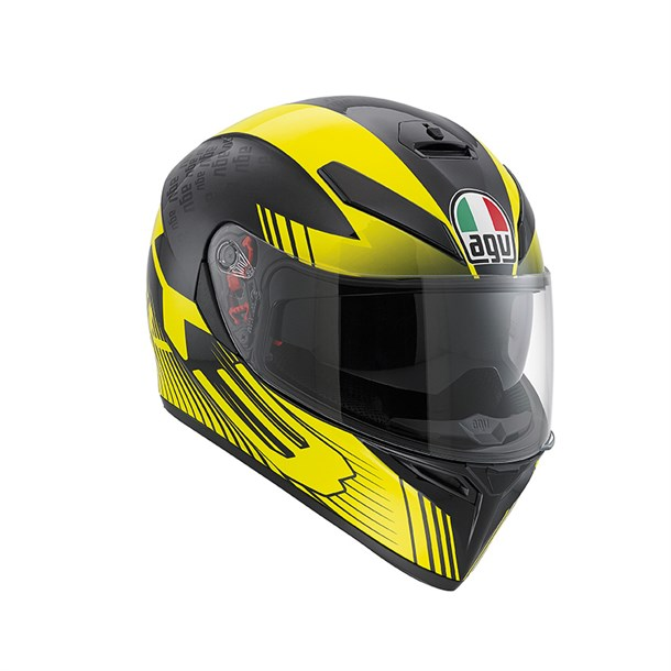 Agv K3 Sv Multi Plk Glimpse Black Yellow Kapalı Kask