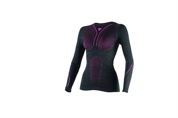 Dainese D-Core Thermo Tee Üst Ls Lady Blk Fuchsia