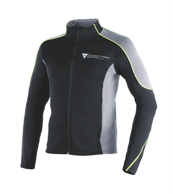 Dainese D-Mantle Fleece Black Antracite Yellow-Fluo