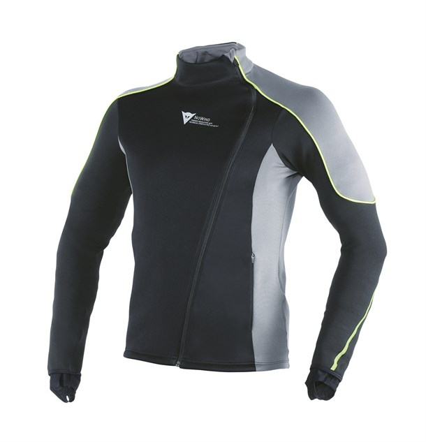 Dainese D-Mantle Fleece Ws Black Antracite Fluo Yellow