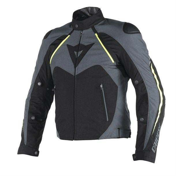 Dainese Hawker D-Dry Mont Black Ebony Fluo Yellow