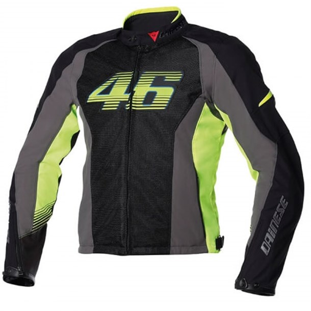 Dainese Vr46 Air Tekstil Mont Black Fluo Yellow