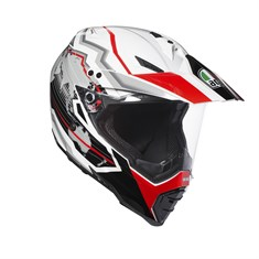 Agv Ax-8 Dual Evo Multi Earth White Black Red Kapalı Kask