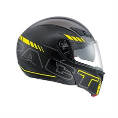 Agv Compact St Multi Plk Seattle Matt Black Yellow Çene Açilir Kask