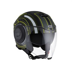 Agv Fluid Multi Chicago Matt Black Yellow Açik Kask
