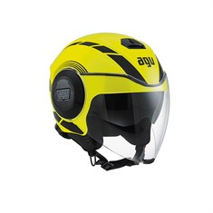 Agv Fluid Multi Equalizer Yellow Fluo Black Açik Kask