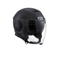 Agv Fluid Solid Matt Black Açik Kask