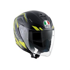 Agv K5 Jet Multi Urban Hunter Matt Black Yellow Açik Kask