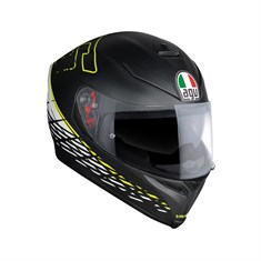 Agv K5 S Top PLK Thorn 46 Matt Blace White Yellow Kapalı Kask - Pinlock Dahil