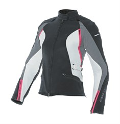Dainese Arya Lady Tekstil Mont Black Dark Gull Grey Fuchsia