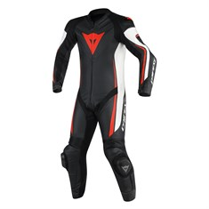 Dainese Assen 1 Pc Perf.Suit Blk Wht Red Flu