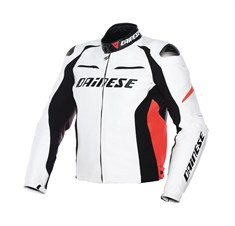 Dainese Racing D1 Deri Mont White Black Fluo Red