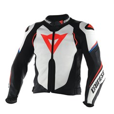 Dainese Super Speed D1 Deri Mont Wht Black Fluo Red