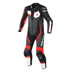 Dainese Veloster 1Pc.Perf.Suit Blk Wh Fl Red