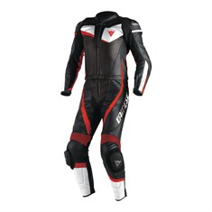Dainese Veloster 2 Pcs Suit Blk Wht Flu Red