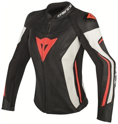 Dainese Assen Lady Deri Mont Black White Red Fluo