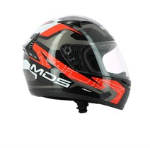Mds M13 Combat Black White Red Kapalı Kask