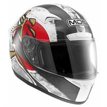 Mds M13 Ronnin White Red Kapalı Kask
