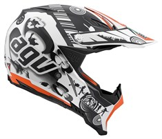 Agv Ax-8 Evo Multi Cool White Black Orange Kapalı Kask
