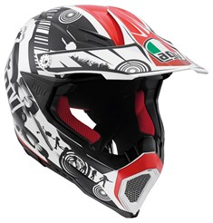Agv Ax-8 Evo Multi Cool White Black Red Kapalı Kask