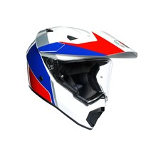 Agv AX-9 Multi Atlante White Blue Red Kapalı Kask