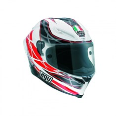 Agv Corsa Multi W5 Hundred White Black Red Kapalı Kask