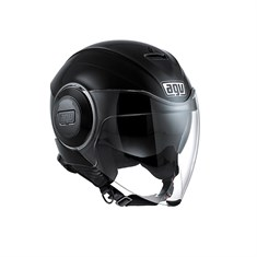 Agv Fluid Solid Black Açik Kask