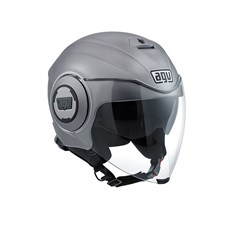 Agv Fluid Solid Matt Grey Açik Kask