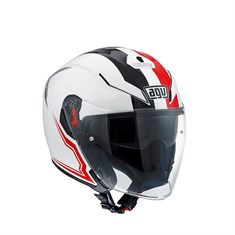 Agv K5 Jet Multi Brave White Black Red Açik Kask