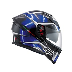 AGV K5 MULTI HURRICANE BLACK BLUE WHITE KAPALI KASK