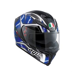 Agv K5 Multi Hurricane Black Blue White Kapalı Kask