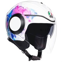 Agv Orbyt Multi Mayfair White Purple Açık Kask