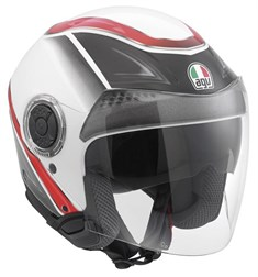 Agv New Citylight Mlt Urbanrace White Black Red Açik Kask
