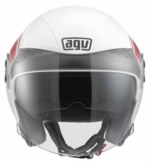 Agv New Citylight Multi World White Red Açik Kask