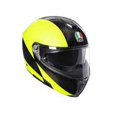 Agv Sportmodular Multi PLK High Visible Carbon Yellow Fluo Çene Açılır Kask