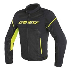 Dainese Air Frame D1 Tekstil Mont Black Black Yellow Fluo