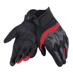 Dainese Air Frame Unisex Gloves Tekstil Eldiven Black Red