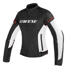 Dainese D-Frame Lady Tekstil Mont Black White Red Fluo