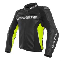 Dainese Racing 3 Black Fluo Yellow Deri Mont