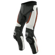 Dainese Alpha Deri Pantolon White Black Fluo Red